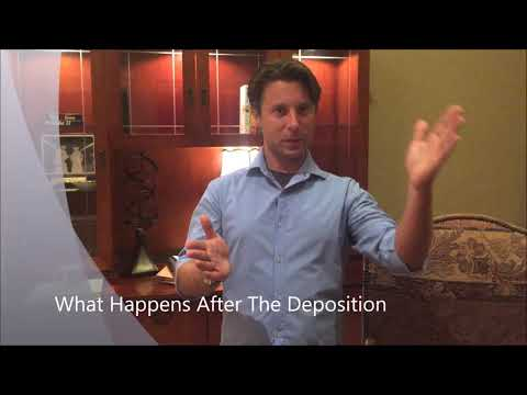 What happens after the deposition