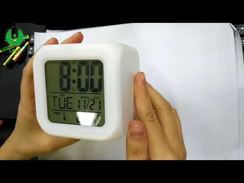 Multicolor Flashing Rechargeable 7 color Led Digital Alarm Clock