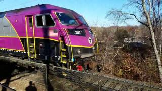 Awesome Horn Blasts from Canton And Sharon with Amtrak and MBTA Trains!