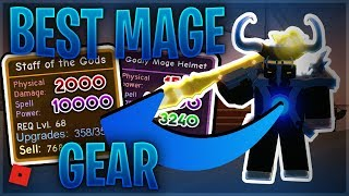 BEST MAX LEVEL MAGE GEAR SETUP IN THE NEW PIRATE UPDATE (Roblox Dungeon Quest)