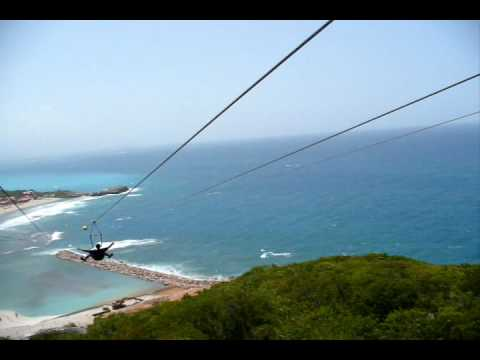 Dragon's Breath Zip Line (world's longest zip line over water) Labadee, Haiti