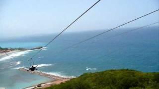 Dragon's Breath Zip Line (world's longest zip line over water) Labadee, Haiti