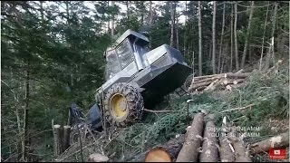 PONSSE FOREST MACHINE IN DANGEROUS PLACE HD