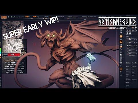 Artisan Guild Patreon - Baalzrodan The Demon King - 3d Sketching