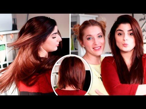 Как крепить волосы на заколках на короткие волосы ❤ GlamTimeHair.com