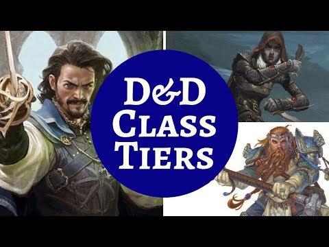 D&D CLASSES RANKING
