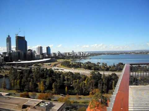 PERTH TRAVEL: King's Park - View of the Perth Skyline in Perth, Western Australia, Australia