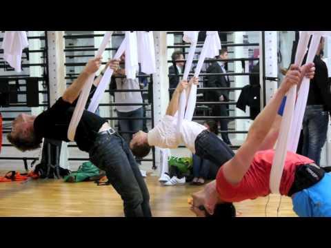 2012 - Die IFAA präsentiert AntiGravity® Yoga auf der FIBO in Essen!