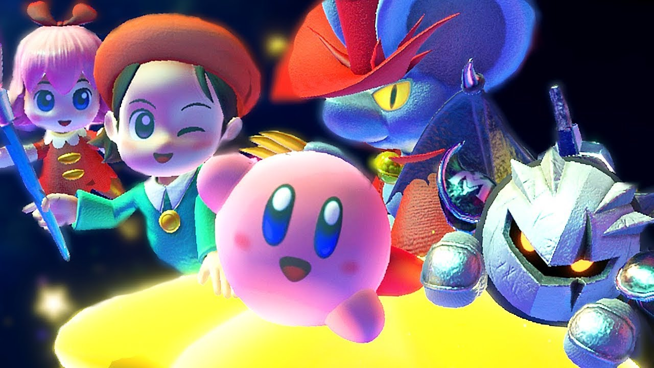 Unlocking New Friends In Kirby Star Allies + Final Boss & Ending Adeleine Daroach & Dark Meta Knight