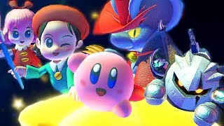 Unlocking New Friends In Kirby Star Allies + Final Boss & Ending Adeleine Daroach & Dark Meta Knight