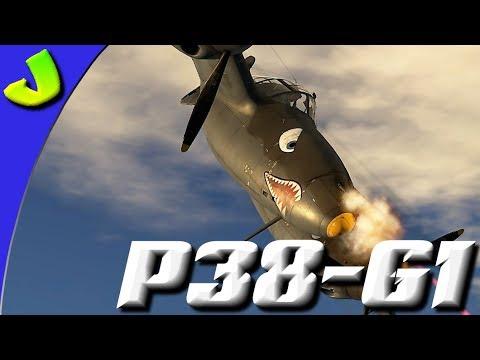 War Thunder P38 G-1 Realistic Gameplay
