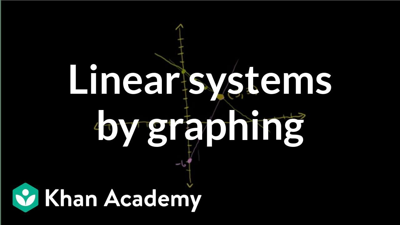 Solving linear systems by graphing | Systems of equations | 8th grade | Khan Academy