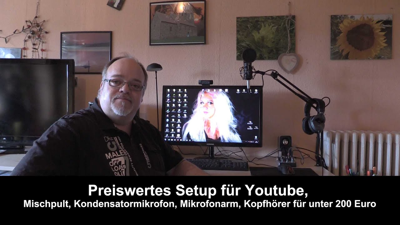 preiswertes setup f r youtube mischpult mikrofon mikrofonarm kopfh rer unter 200 euro youtube. Black Bedroom Furniture Sets. Home Design Ideas