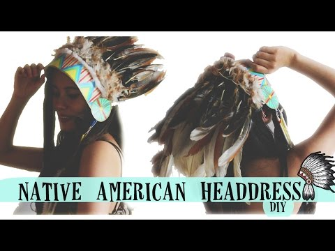 NATIVE HEADDRESS DIY!!