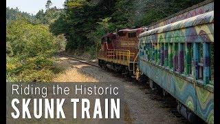 Riding the Historic Skunk Train in Fort Bragg