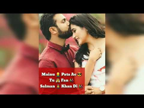 Mainu Pata Ae Tu Fan Salman Khan Di Full Screen WhatsApp Status Video