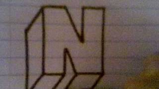 HOW TO DRAW 3D LETTERS ( N )