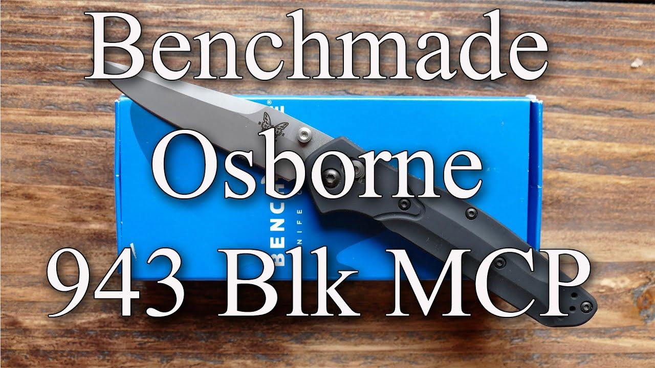 Benchmade Osborne 943 BLK MCP - YouTube