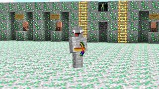 die ganze Base besteht aus Emerald Erz Blöcken.. Minecraft LUCKY BLOCK BEDWARS