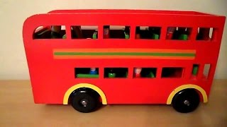 Amazing Red Toy Wood London 2012 Double Decker Bus Routemaster