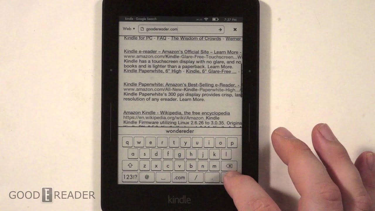 How to use the Internet on the Amazon Kindle Voyage