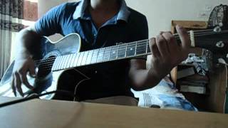Amar vitoro bahire guitar cover by me