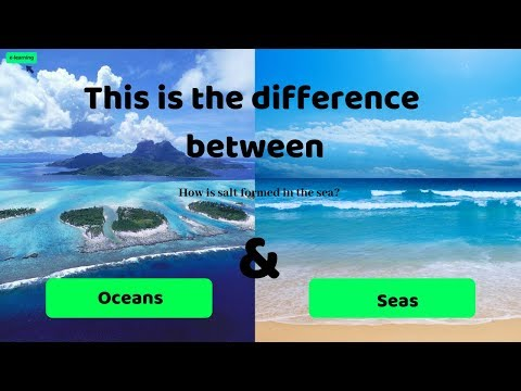 #This is the difference between Oceans & Seas and How is salt formed in the sea ?