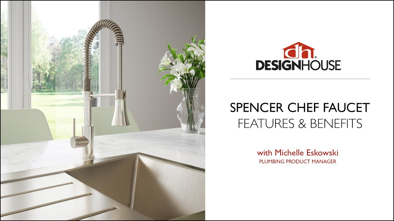Design House Spencer Chef Kitchen Faucet – Product Overview - YouTube