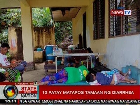 SONA: 10 patay matapos tamaan ng diarhhea sa Palawan