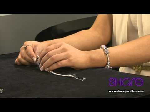 How To Put A Safety Chain Charms And Spacers On A Pandora Bracelet Youtube