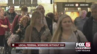 Local federal workers without pay during shutdown