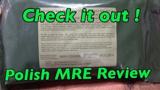 2016 Polish MRE Review Ration Stew Of Cabbage And Sausage set Nr-9 sr-9 Individual