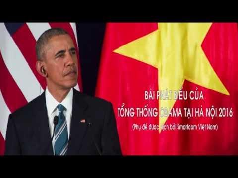 Bài phát biểu của Obama tại Việt Nam(Vietsub)