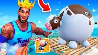 *NEW* FLYING COW at MAX HEIGHT - What Happens? (Fortnite Update)