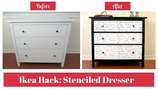 Furniture Makeover: Boring Black and White Dresser Transformation into A Stunning Accent Piece