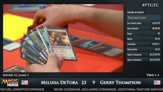 Pro Tour Gatecrash Round 12: Melissa DeTora vs Gerry Thompson