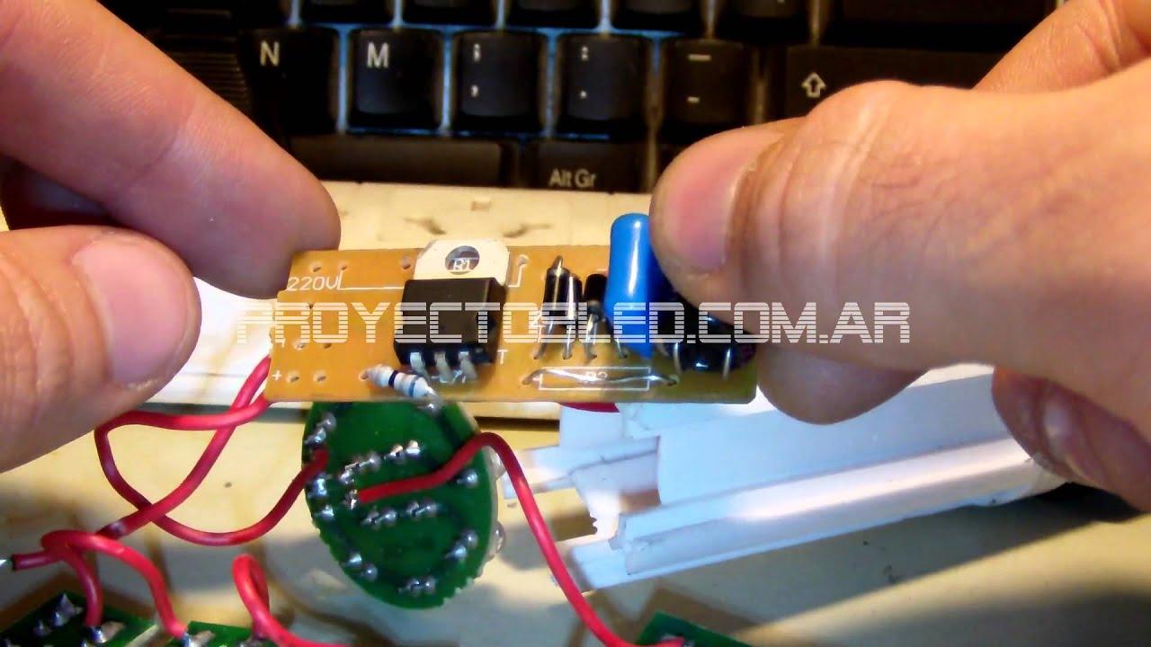 Circuito Led : Proyectosled #23: lampara led china con circuito modificado youtube