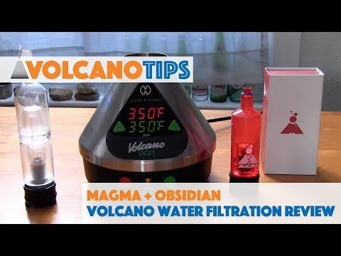 Magma & Obsidian Volcano Vaporizer Water Filtration Accessory Review
