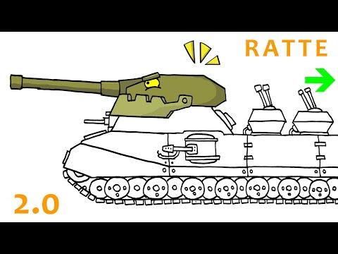 Cara Menggambar Tank Kartun Ratte | HomeAnimations | Part 3