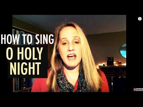 How to Sing O Holy Night | Best Christmas Song for Singers