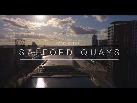 SALFORD QUAYS MANCHESTER   4K   DRONE FOOTAGE