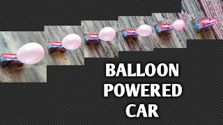 Balloon powered car. Toothpaste box car. DIY toy craft idea with Colgate box. Science project.