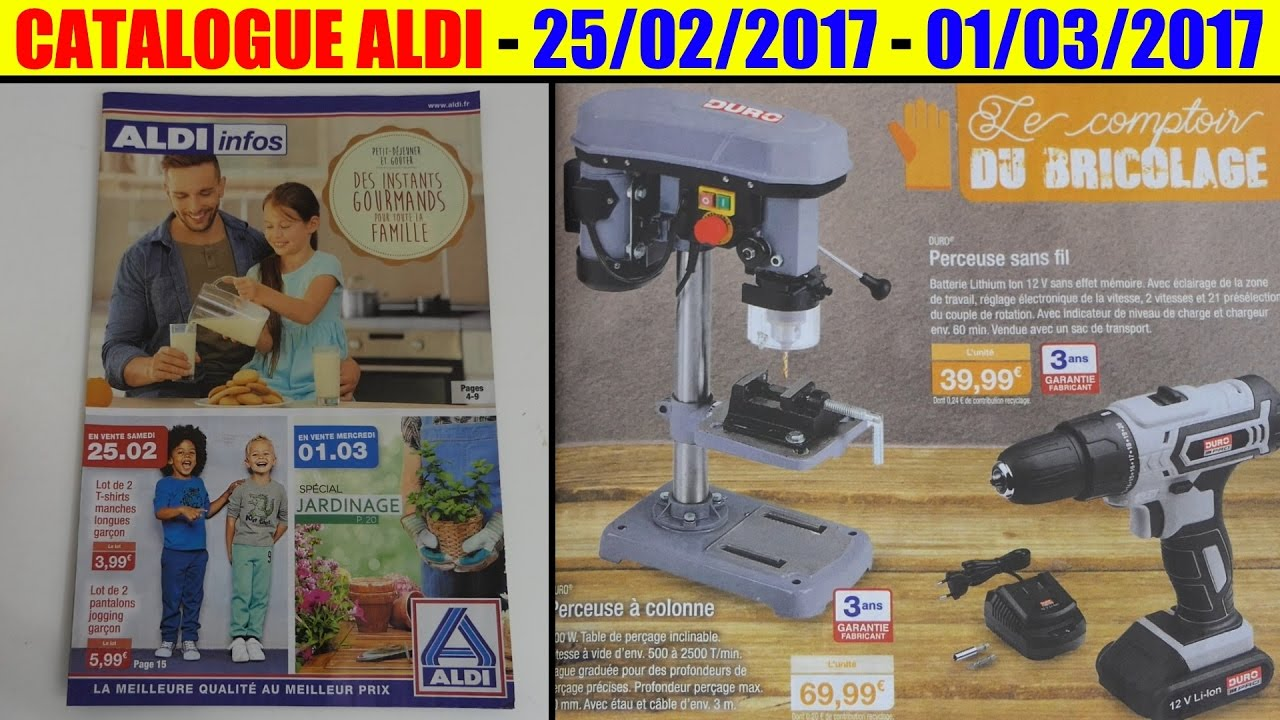catalogue aldi 25 02 2017 01 03 2017 cuisine bricolage jardin youtube. Black Bedroom Furniture Sets. Home Design Ideas