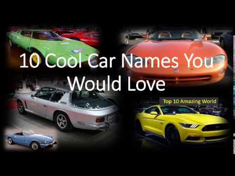 10 Cool Car Names You Would Love