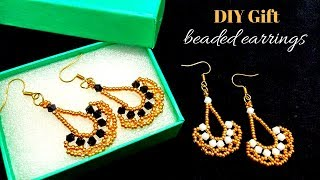 DIY gift . XMAS gift for ladies. Beaded earrings