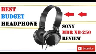 best entry level headphone sony mdr xb250 review with final verdict