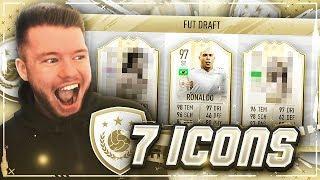 7 ICONS IM FUT DRAFT (FIFA 19) 🔥🔥 MEIN REKORD