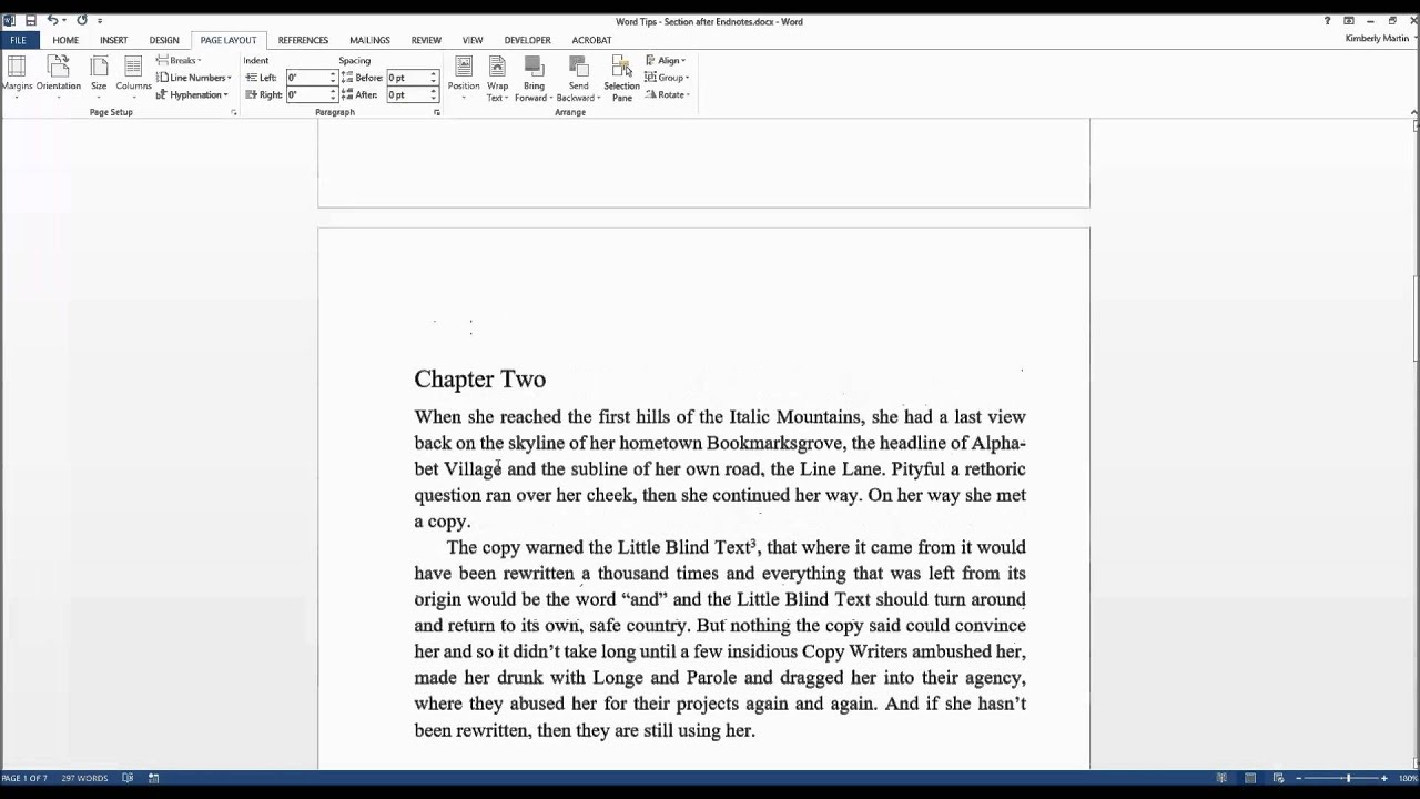 Word tips for writers add a section after your endnotes in word tips for writers add a section after your endnotes in microsoft word ccuart Image collections
