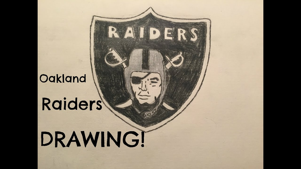The Oakland Raiders Logo Drawing (Time Lapse) - YouTube