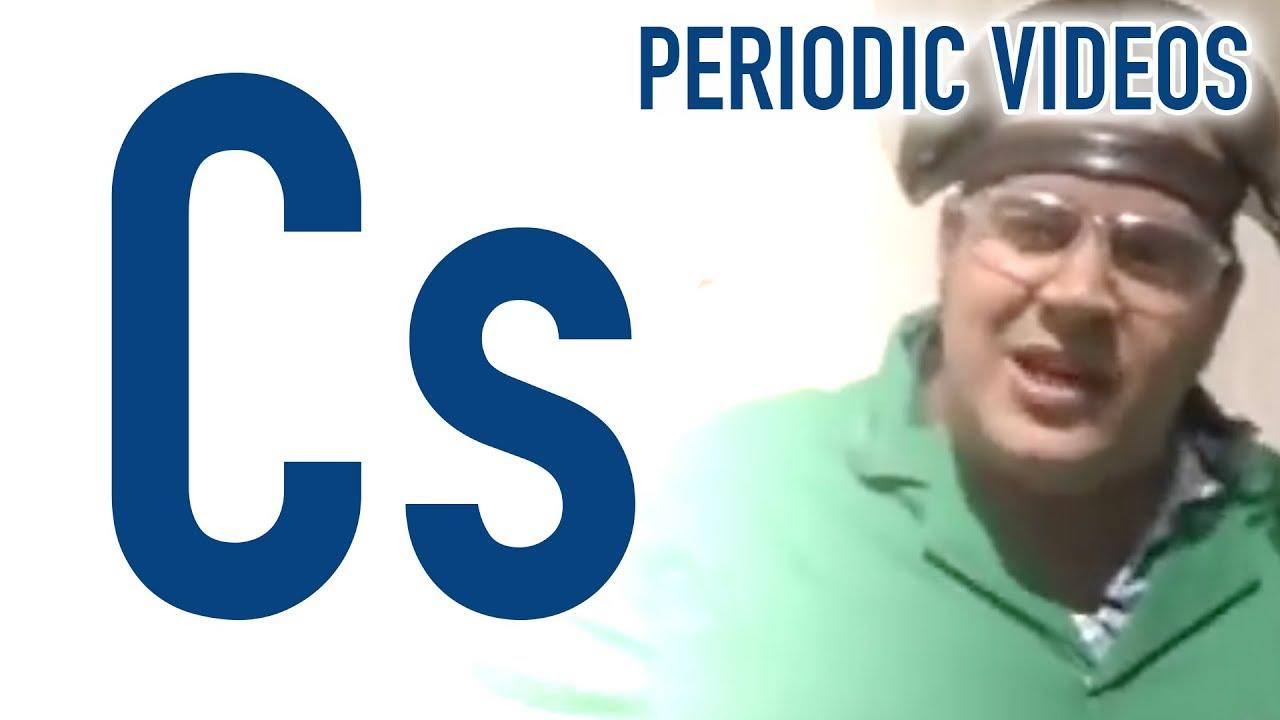 Caesium Or Cesium Periodic Table Of Videos Youtube